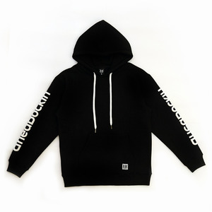 RR Arm Embossing Script Hood Black