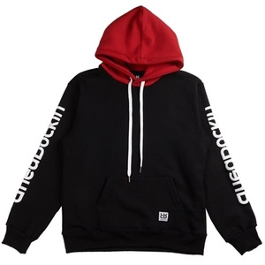 RheaRockin two-tone Hood Red/Black