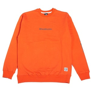 RHEAROCKIN SCRIPT CREWNECK ORANGE