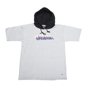 RHEAROCKIN NEON SIGN SHORT HOOD GRAY/BLACK