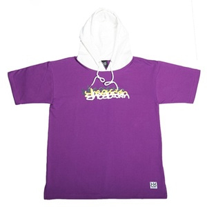 RHEAROCKIN NEON SIGN SHORT HOOD PURPLE/WHITE