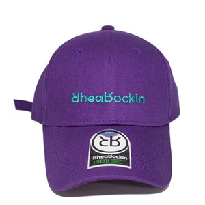 RHEAROCKIN SCRIPT BALL CAP PURPLE/MINT