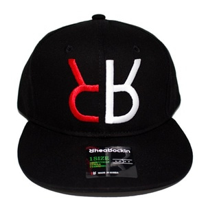 RHEAROCKIN LOGO SNAP BACK BLACK