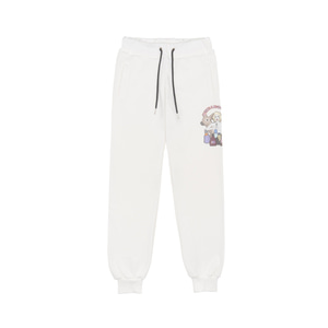 RheaRockin Girl's Dream Sweat Pants White