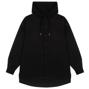 RHEAROCKIN Hooded Shirts Black
