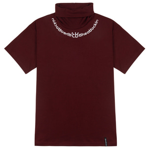 RHEAROCKIN TURTLENECK SHORT SLEEVE BURGUNDY